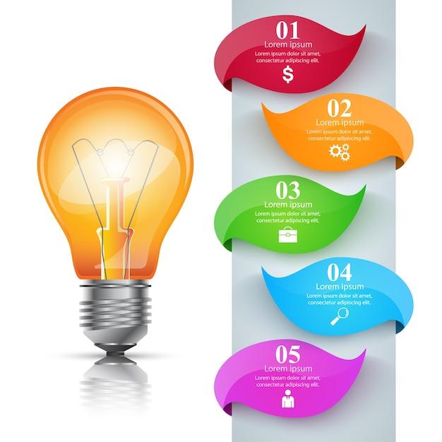 Infographic-designschablonen- und -marketing-ikonen. Premium Vektoren