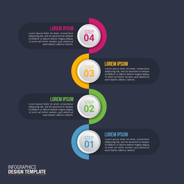 Infographic-designvektor für geschäftsdatenvisualisierung Premium Vektoren