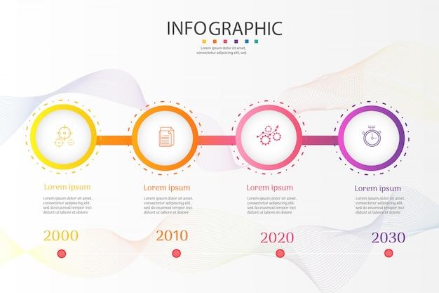 Infographic diagrammelemente der wahlen der geschäftsschablone 4 Premium Vektoren