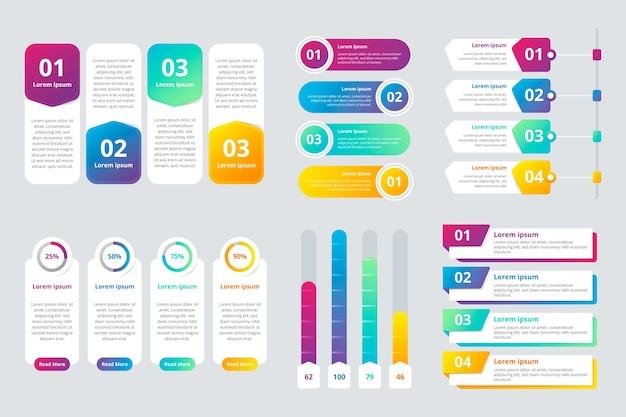 Infographic elemente der bunten steigung Kostenlosen Vektoren