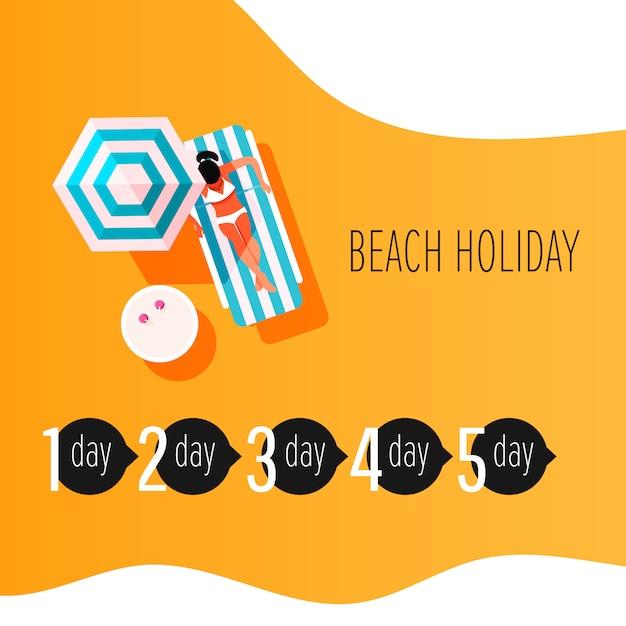 Infographic elemente des vektors der zeit, zum sich zu sonnen. sonnenbrandbehandlung infografik. mädchen mit sonnenbrandhaut. Premium Vektoren