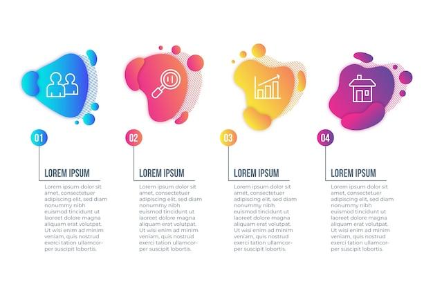 Infographic konzept der abstrakten form der steigung Kostenlosen Vektoren