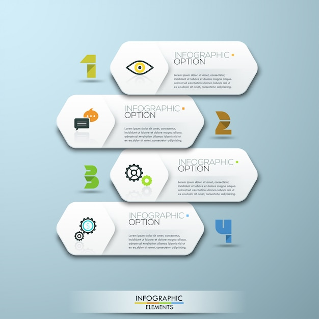 Infographic schablone der minimalen art des modernen designs Premium Vektoren