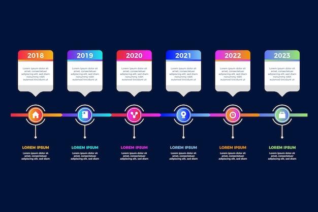 Infographic schablone der steigungszeitachse Kostenlosen Vektoren