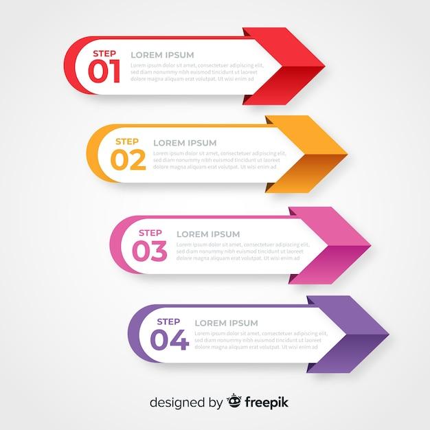 Infographic schablone des firmenkundengeschäfts, zusammensetzung von infographic elementen Kostenlosen Vektoren