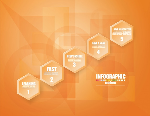 Infographic schablone des geschäfts das konzept die treppenschritte. verstärken. Premium Vektoren