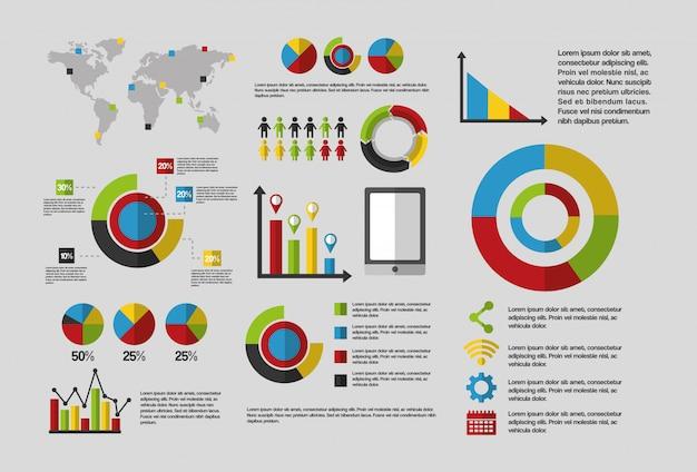 Infographic schablone des statistikdatengeschäfts Kostenlosen Vektoren