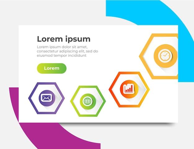 Infographic-websiteschablone entwirft konzepte, vektorillustration Premium Vektoren