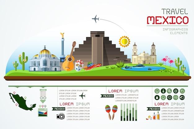 Infographics-markstein-mexiko-schablonendesign Premium Vektoren