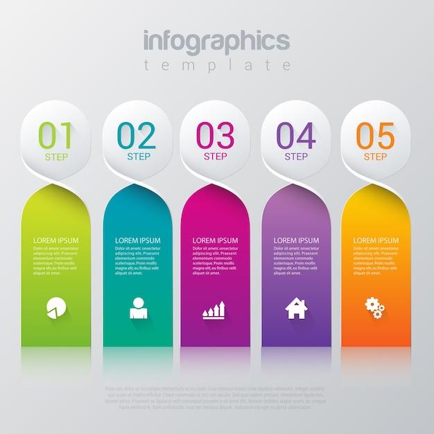 Infographics-vorlage Kostenlosen Vektoren