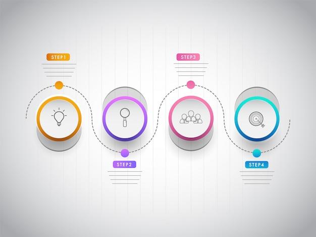 Infographik auf unternehmens- oder unternehmenssektor-konzept basierend Premium Vektoren