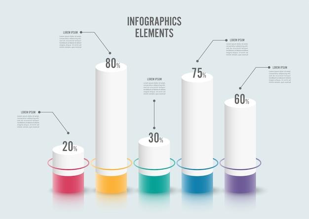 Infographik Design-Vorlage Workflow-Layout, Anzahl Optionen ...