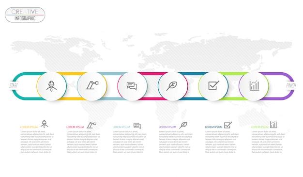 Infographik diagrammdesign mit schritt prozess Premium Vektoren