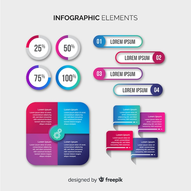 Infographik element collectio Kostenlosen Vektoren