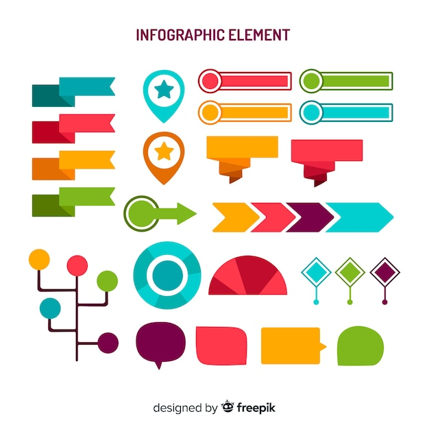Infographik element sammlung Kostenlosen Vektoren