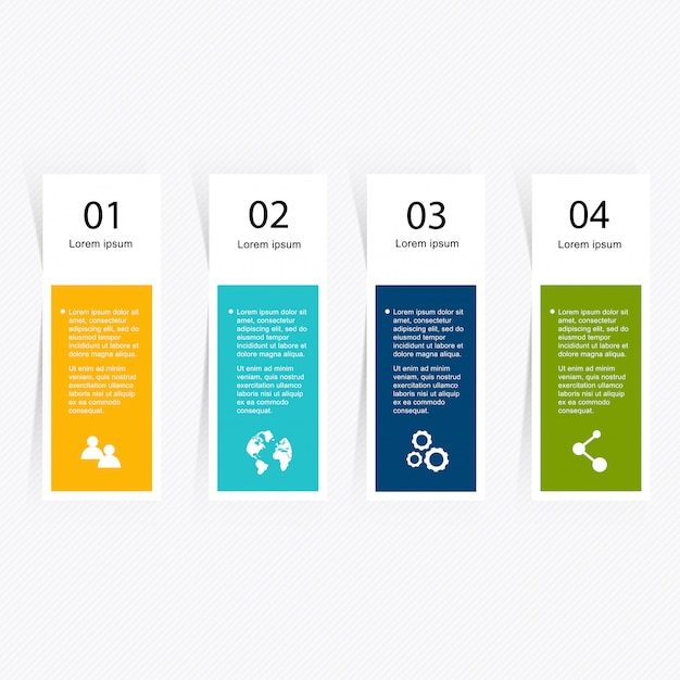 Infographik elemente im modernen flachen business-stil. Premium Vektoren