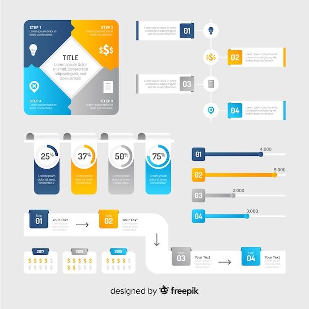 Infographik elementsammlung Kostenlosen Vektoren