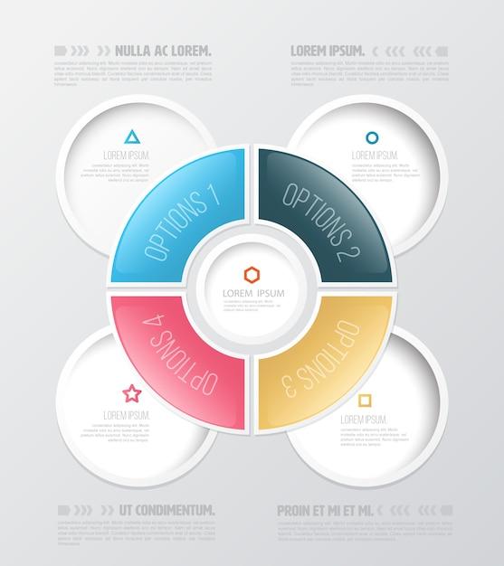 Infographik entwurfsvorlage Premium Vektoren