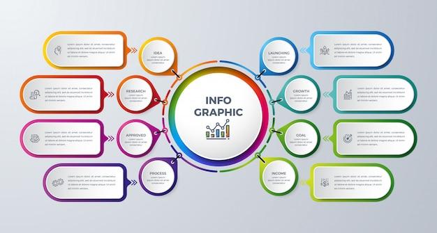 Infographik gestaltungselement Premium Vektoren