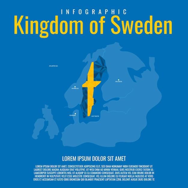 Infographik königreich schweden Premium Vektoren