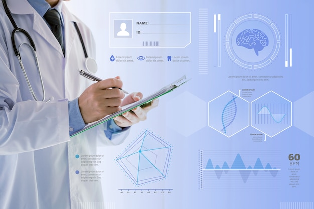 Infographik medizinische mit foto Kostenlosen Vektoren