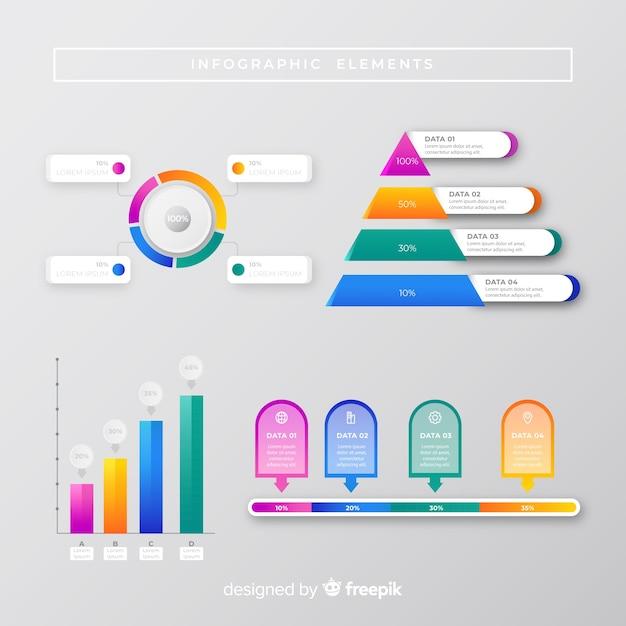 Infographik sammlung marketingkonzept Kostenlosen Vektoren