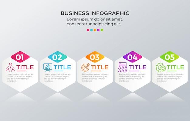 Infographik schritte sammlung Premium Vektoren