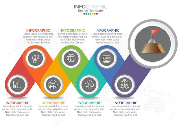 Infographik template-design Premium Vektoren