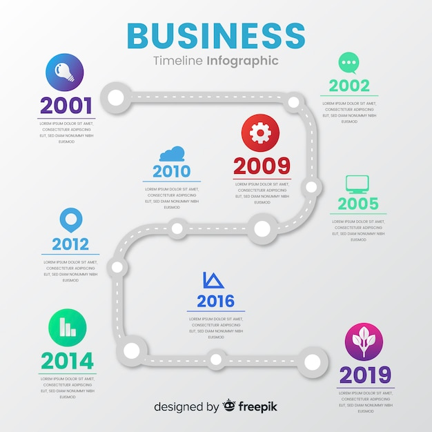 Infographik timeline-konzept Kostenlosen Vektoren