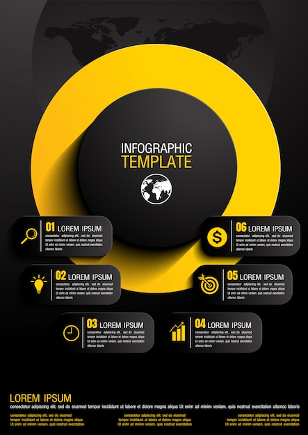 Infographik vektor-illustration Premium Vektoren
