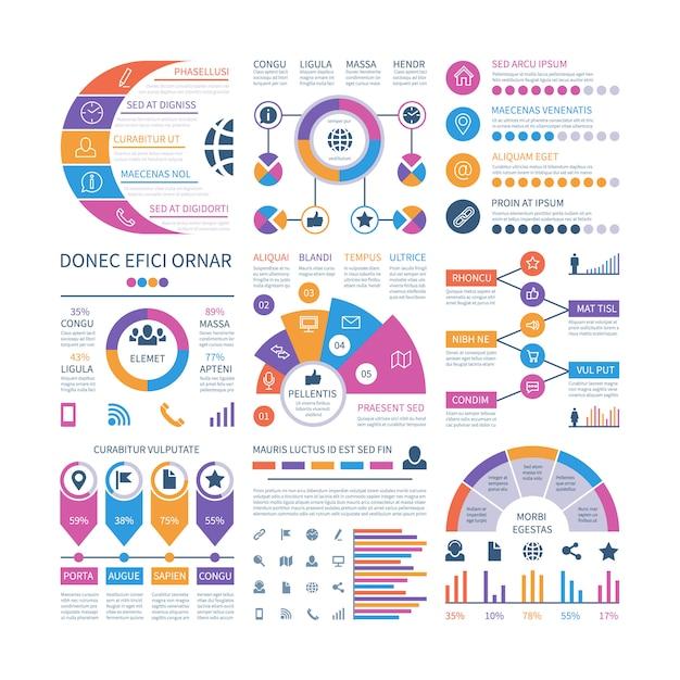 Infographik vorlage. diagramme für finanzinvestitionen, ablaufdiagramm für die organisation der prozesszeitachse. Premium Vektoren