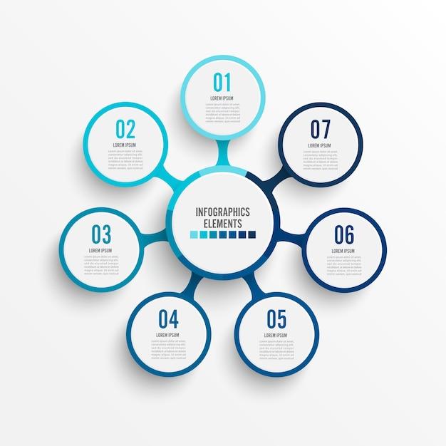 Infographik vorlage mit 3d-papier-label Premium Vektoren