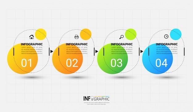Infographik vorlage mit gliederungskonzept. Premium Vektoren