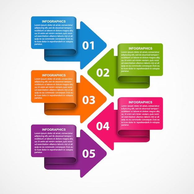 Infographik vorlage mit pfeilen Premium Vektoren