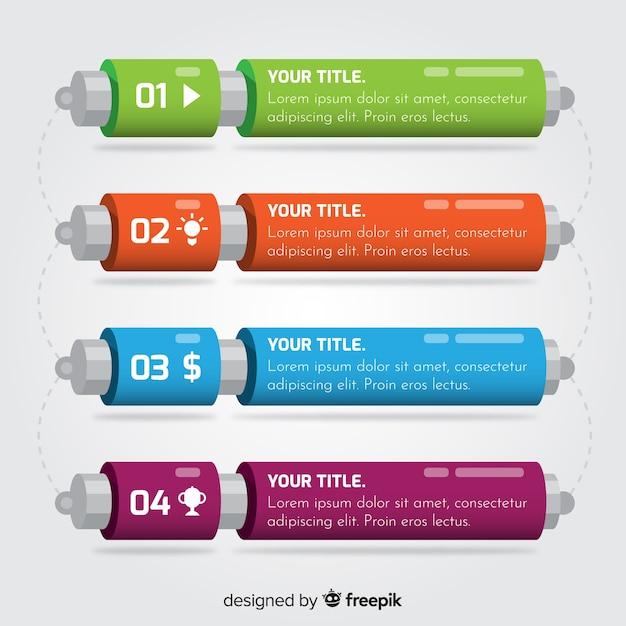 Infographik vorlage mit schritten konzept Kostenlosen Vektoren