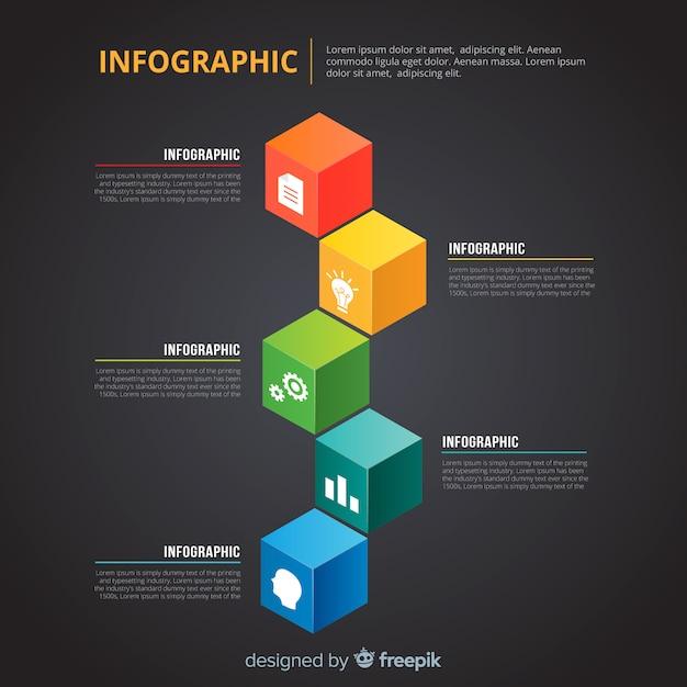 Infographik vorlage Kostenlosen Vektoren