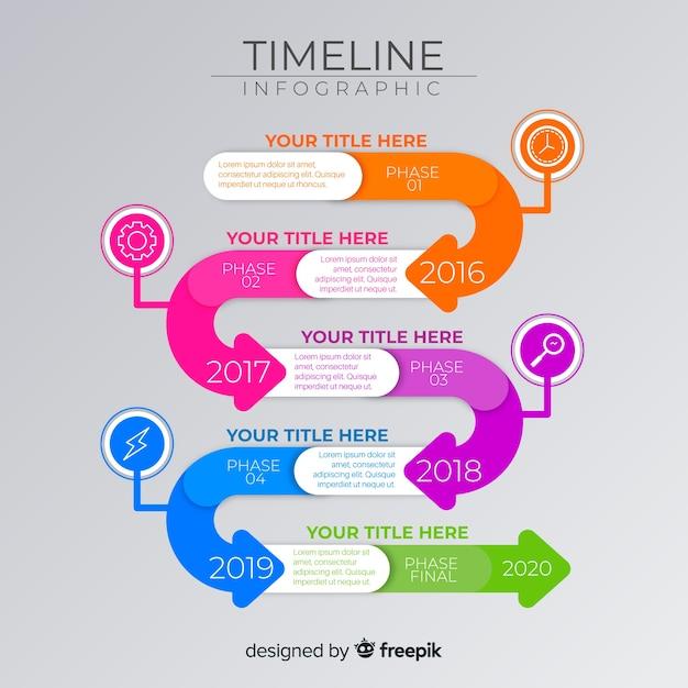 Infographik wachstum timeline vorlage Kostenlosen Vektoren