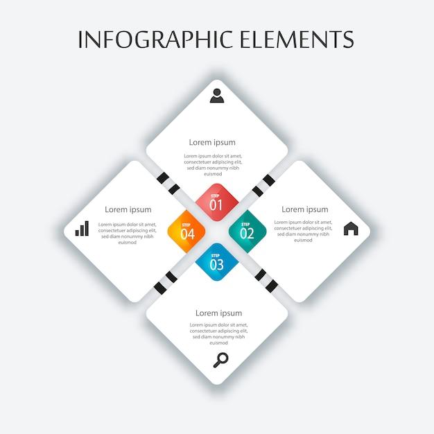 Infogrpahic vorlage für business und schule präsentation Premium Vektoren