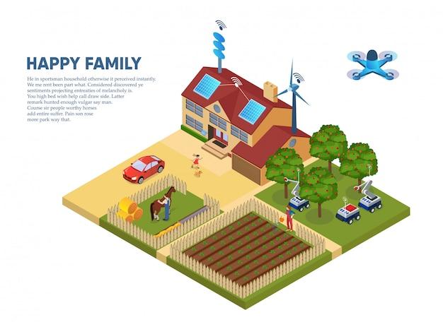Informationsflyer glückliche familie Premium Vektoren
