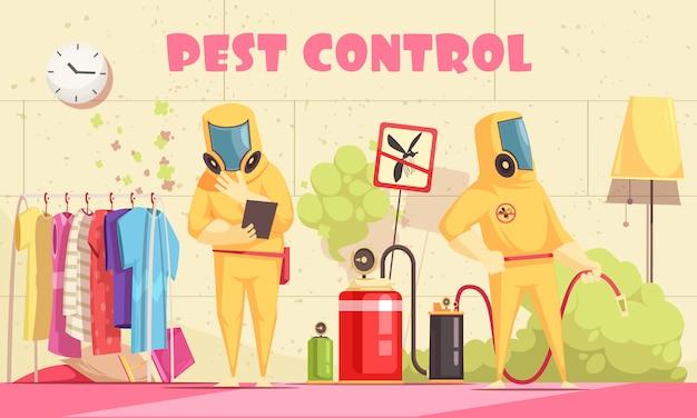 Inländische schädlingsbekämpfung hintergrund Kostenlosen Vektoren