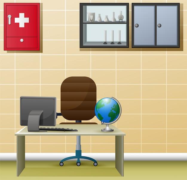 Innenarchitektur der einfachen arztpraxis Premium Vektoren