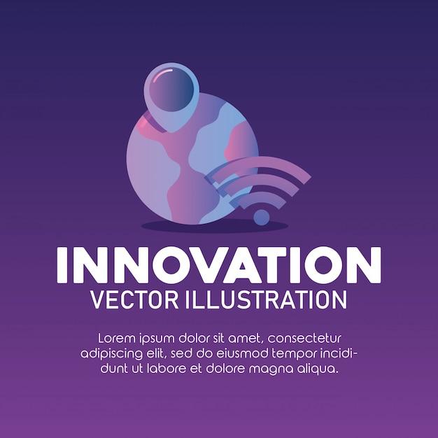 Innovation und technologie Premium Vektoren