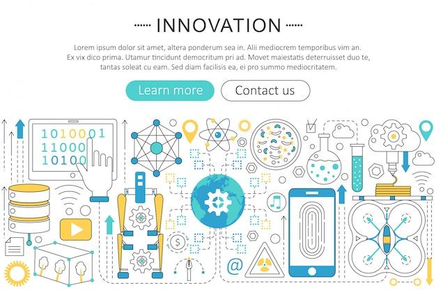 Innovationskonzept der zukunftstechnologie Premium Vektoren