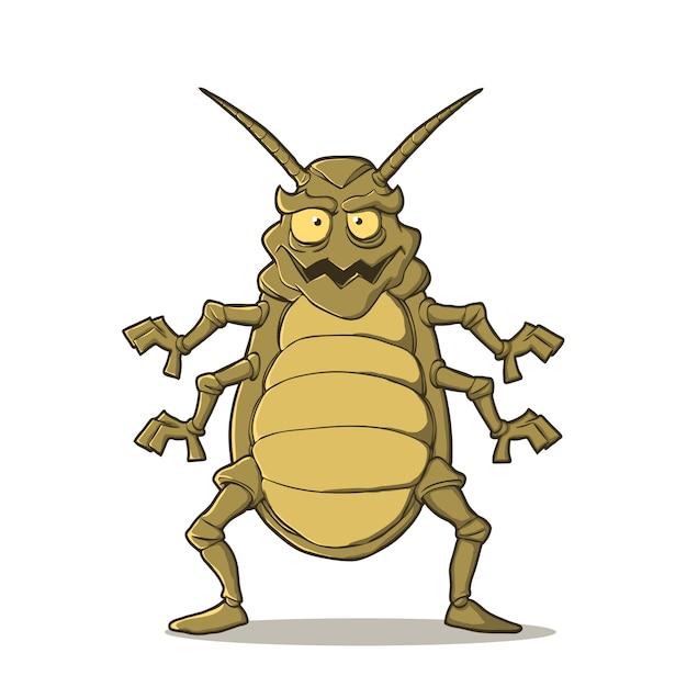 Insekt im cartoon-stil Premium Vektoren