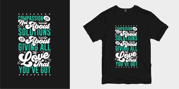 Inspirierende freundlichkeit t-shirt design zitiert slogan typografie schriftzug Premium Vektoren