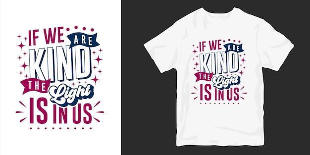 Inspirierende güte t-shirt design zitiert slogan typografie Premium Vektoren