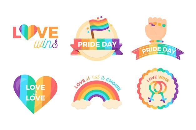 Inspirierende pride day etiketten design Kostenlosen Vektoren