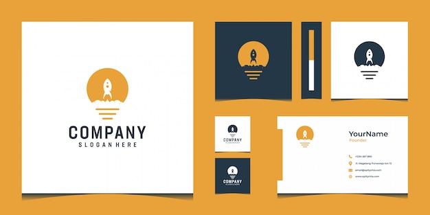 Inspirierendes modernes logo und visitenkartenentwurf in der goldfarbe Premium Vektoren