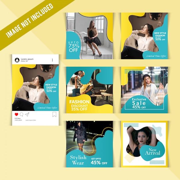 Instagram-fashion-story-vorlage Premium Vektoren