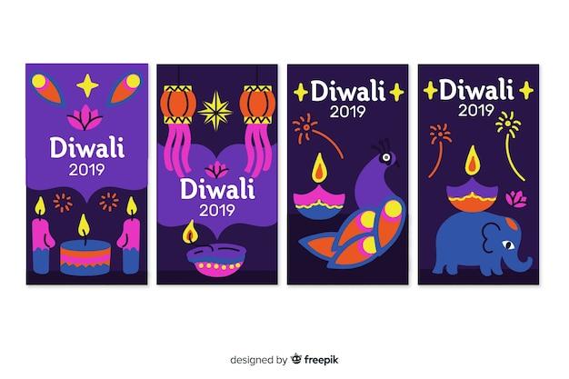 Instagram geschichten diwali festival Kostenlosen Vektoren
